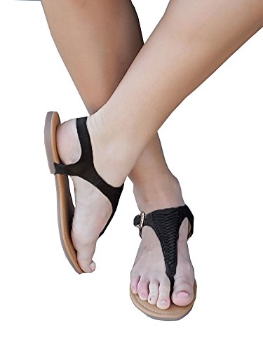 The A Suede Thong Sandal - 1