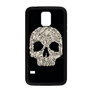 Samsung Galaxy S5 Cell Phone Case Black A whole lot of skulls TMP Durable Unique Case