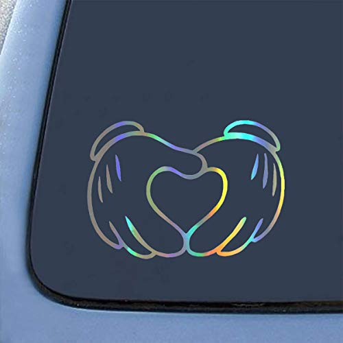 2pcs Mickey Mouse, 140 x 112 mm BCOROBYS Fashion Car Stickers and Decals 3D Glue Mickey Mouse Disney Face Car Window Wall Decal Sticker Motorcycle Auto Vinyl Stickers Accessories & Supplies