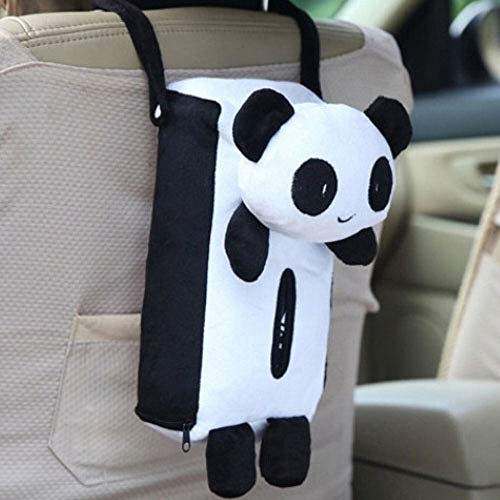 1 Colors Cute Animal Car Tissue Holder Back Hanging Tissue Box Covers Napkin Paper Towel Box Holder Case Paper Towel Holder (Color : White)