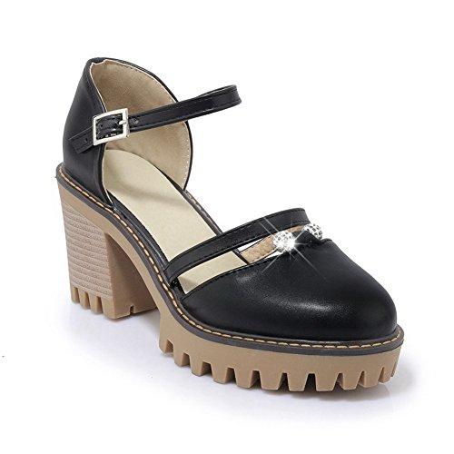 BalaMasa Sandales Noir Compensées BalaMasa Compensées Sandales Femme Femme qqHUCr6w1