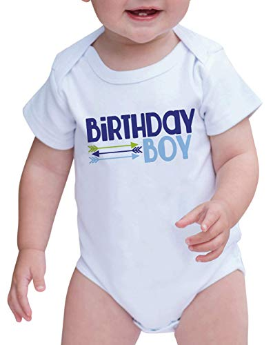 Boy's Novelty Hipster Arrows First Birthday Onepiece Outfit 12-18 Months Blue and Green ()