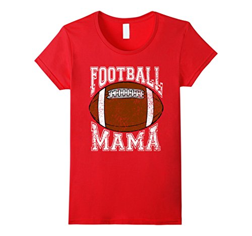Womens Football Mama Shirt Mom Football Shirt Distressed Shirt XL - Shirt Retro Shirts Football