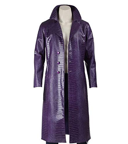 Fashion Xone Halloween Costume Special Jared Leto Joker Suicide Squad Purple Coat (Chest Size XXX-Large 47