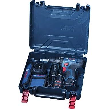 Bosch 06019G81K2 GSB-120 - Li Cordless Drill Driver, Double Battery (Blue) 11
