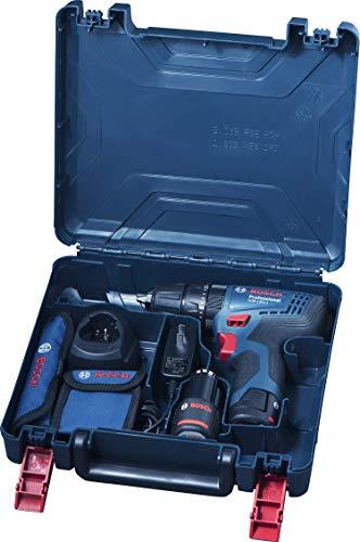 Bosch 06019G81K2 GSB-120 - Li Cordless Drill Driver, Double Battery (Blue) 4