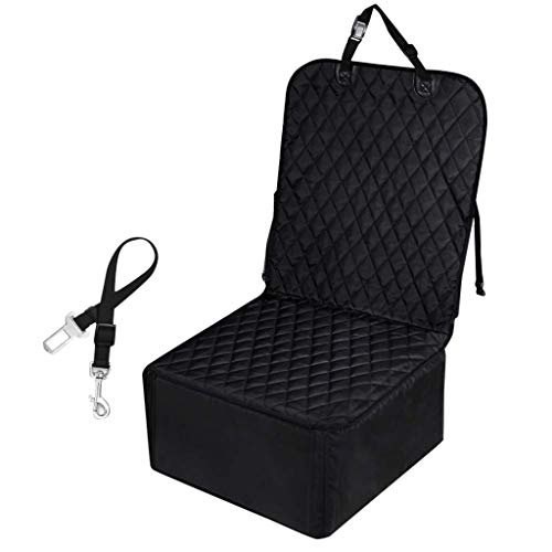CreazyBee Pet Front Seat Cover Pet Booster Seat 2 in 1 Dog Seat Cover for Cars Waterproof