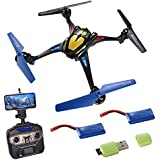 Remoking R807 RC Drone Toys Racing Quadcopter with HD Camera Headless Mode 2.4GHz 360°flip 4 Channels Indoor and Outdoor Sport Game Good for Children and Adult as Gifts - 2 Batteries