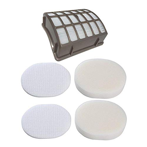 Price comparison product image SaferCCTV Replacement XFF80 XHF80 Filtes with 2pcs Foam Filters for Shark Navigator Professional NV70,  NV80,  NVC80C,  UV420 and Shark Rotator Professional XL Capacity NV90,  NV95