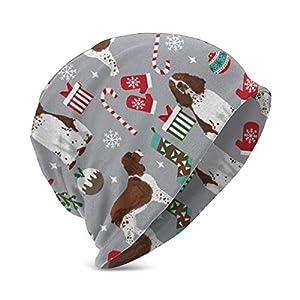 CicScottely Kid's Winter Hat Knit Beanie - English Springer Spaniel Christmas 3 Blue 1