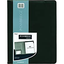 Cambridge 33914 Vinyl Padfolio with 50-Sheet Notepad, Letter Size, 12-1/2x9-1/2-Inch, Black