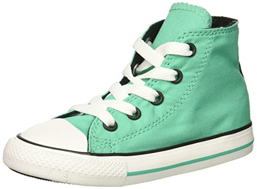 Converse Girls' Chuck Taylor All Star 2018 Seasonal High Top Sneaker, Pastel Green, 9 M US Toddler
