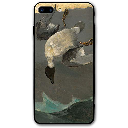Funny Oil Painting Duck iPhone 7 Plus / 8 Plus iPhone 7/8 Plus Shockproof Case Skin Fits (Ducks Oil Painting)