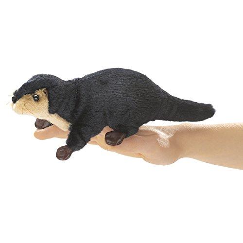Folkmanis Mini River Otter Finger Puppet (Otter Puppet Folkmanis)