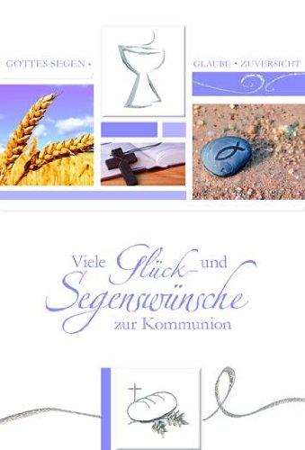 Tarjeta Comunión Diseño Cáliz Trigo Cruz Sobre Violeta, 5 ...