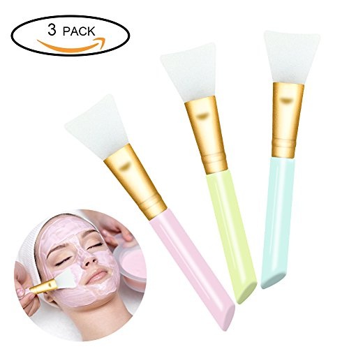 Application Mask Brush (3 PCS Silicone Face Mask Brush Tool Kit,Mask Beauty Tool Soft Silicone Facial Mud Mask Applicator Makeup Brush Hairless Body Lotion And Body Butter Applicator Tools)