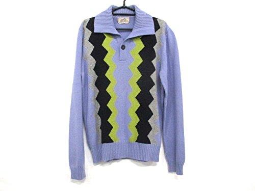 (エルメス) HERMES セーター 長袖セーター メンズ パープル×ダークブラウン×イエロー 【中古】 B07FVWBY74  -