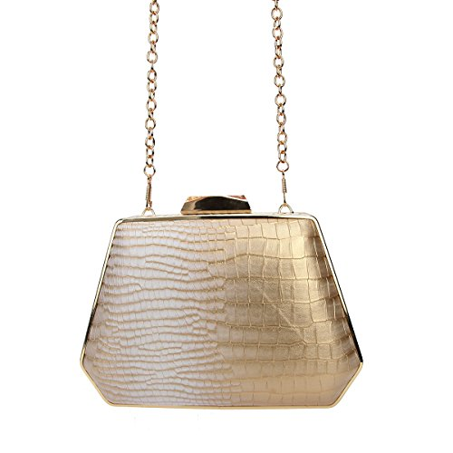 Evening Snake Bags Gold Women for Purse Pattern Clutch Box Handbag Bonjanvye Xqwaqp