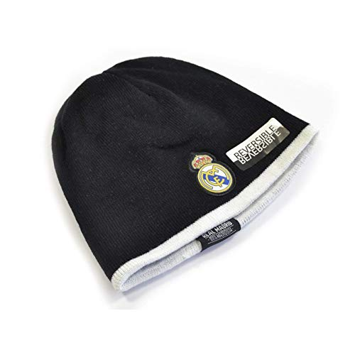 (Real Madrid CF Reversible Beanie (One Size) (Black/White) )