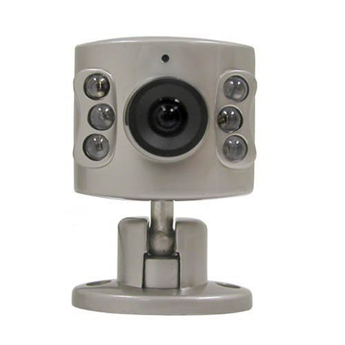 Wisecomm OC950 Mini Indoor Night Vision Color Security Camera with Audio and Adjustable Lens - Mini (Silver)