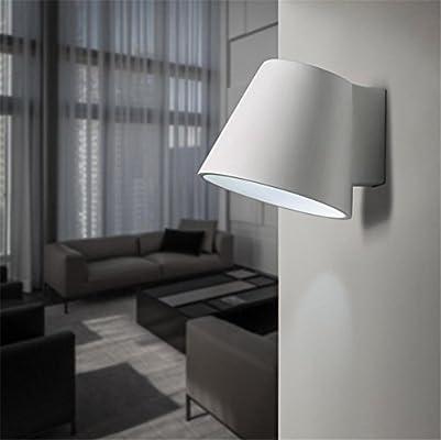 Apliques de Pared Pared Moderna Luces Pared lámpara Pared Aplique Dormitorio Living Comedor Escalera Pasillo iluminación Yeso Blanco Apliques de Pared LED: Amazon.es: Hogar