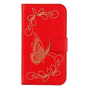 PEACH Butterfly And Flower Pattern PU Leather Full Body Case for Samsung S3 I9300(Assorted Colors) , White