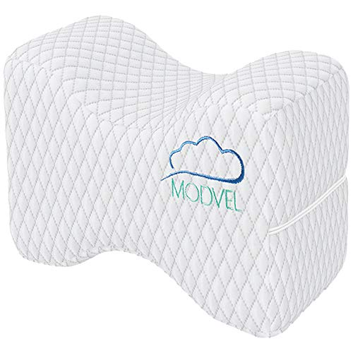 Modvel Orthopedic Knee Pillow   Memory Foam Cushion For Hip, Sciatica & Lower Back Pain Relief   Provides Support & Comfort   Breathable & Washable   Between-The-Legs Pregnancy (MV-104)