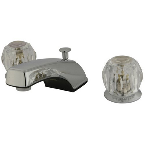 Kingston Brass KB921 Americana 8-Inch Widespread with Twin Acrylic Handle Lavatory Faucet, Polished Chrome ()