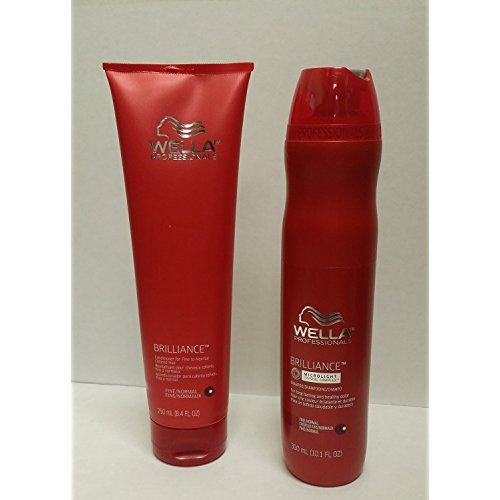 Wella Brilliance DUO Color Care for Fine/Normal Hair Shampoo 10.1 oz and Conditioner 8.4 oz