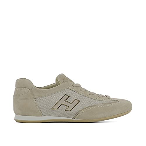 on sale HOGAN WOMEN'S HXW05201687FR10U70 BEIGE SUEDE