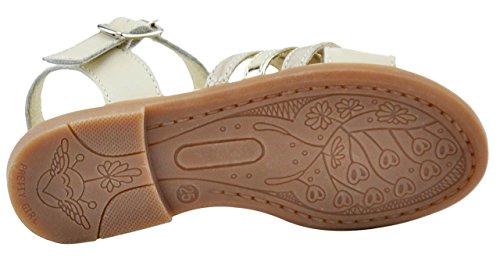 Chetto Linea Basic Sandalia Para Niña - 17012 - Tiras Cruzadas. Oro