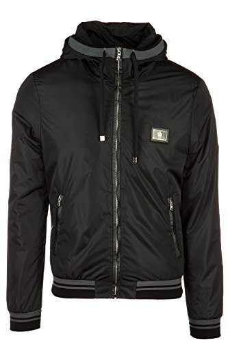 Dolce&Gabbana men's Nylon outerwear jacket blouson black US size 46 (US 36) G9IY7T FUMQG N0000