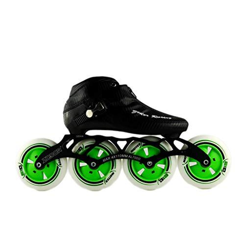 統合歴史殺すNUBAOgy インラインスケート、90-110ミリメートル直径の高弾性PUホイール、3色で利用可能な子供のための調整可能なインラインスケート (色 : 黒, サイズ さいず : 44)