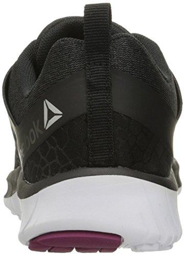 Reebok Women's Z Belle L.b.s Running Shoe, Black Black/Coal/White/Rebel Berry