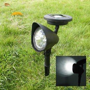 2er Set Led Solar Strahler Solar Spot Light Gartenspot Solarlampe