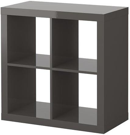 Ikea Expedit Shelf In High Gloss Grey Amazon De Kuche Haushalt