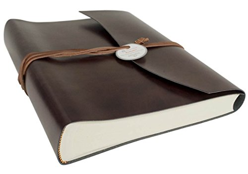LEATHERKIND Romano Recycled Leather Photo Album, Large Rustic - Handmade in Italy (Recycled Leather Photo)