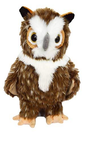 Great Horned Owl Animals - Kingdom Kuddles Elegant Great Horned Owl Barnstable-Plush Stuffed Animal Owl