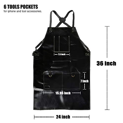 Buy black leather apron