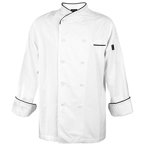 Womens Prestige Cotton Jacket (Chef Code Gossypium Prestige Executive Chef Coat Unisex (3XL, White))