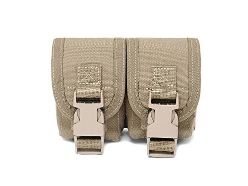 Warrior Assault Systems Double Frag Grenade Pouch type without, colour Coyote, size unisize