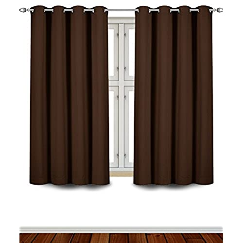 Utopia Bedding   Blackout Room Darkening And Thermal Insulating Window  Curtains / Panels / Drapes   2 Panels Set   8 Grommets Per Panel   2 Tie  Back ...