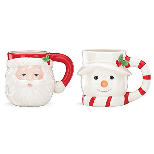 Holiday Figural Mug 2-pc Set