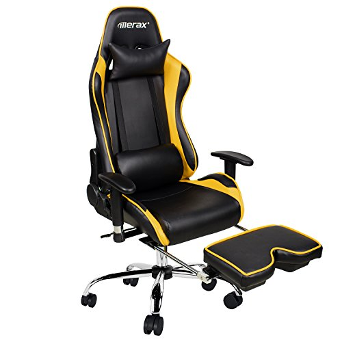 Merax Ergonomic Racing Gaming Chair with Adjustable Armrests