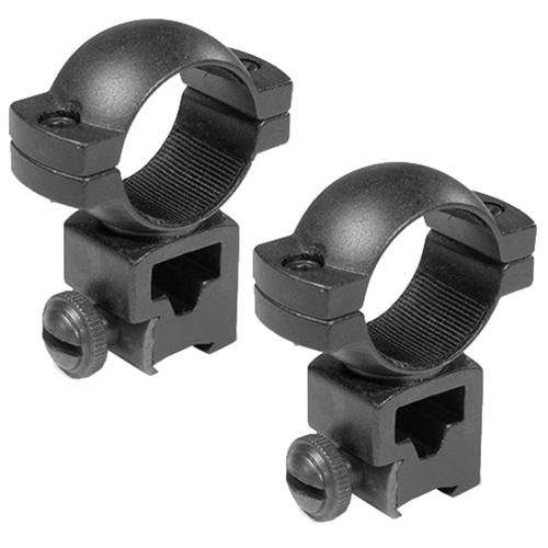 1 in. High Dovetail Style See Through Rings - Set of 2