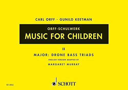 MUSIC FOR CHILDREN VOL2: MAJOR: DRONE BASS-TRIADS VOICE RECORDER & ORFF PERC. (Music for Children (Schott)) by Margaret Murray (1976-06-01) ()