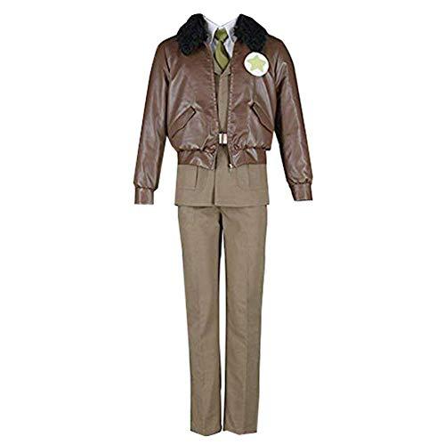 Adult Mens Army Uniform Full Set Costume (M) Brown]()