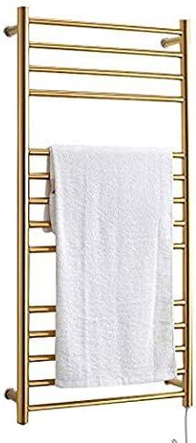 PINCHU Calentador de Toallas Golden Toallero eléctrico Calentador Toallero Golden 304 Accesorios de baño de Acero Inoxidable Secador Soporte de Caldera