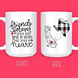 Long Distance Friendship Gifts - State Mugs Distance - Personalized - 15 oz. Coffee & Tea Mug by Max...