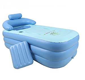 Folding Inflatable Bathtub Portable bath tub Spa Tub//wholesale,retail//blue//size:1204545CM